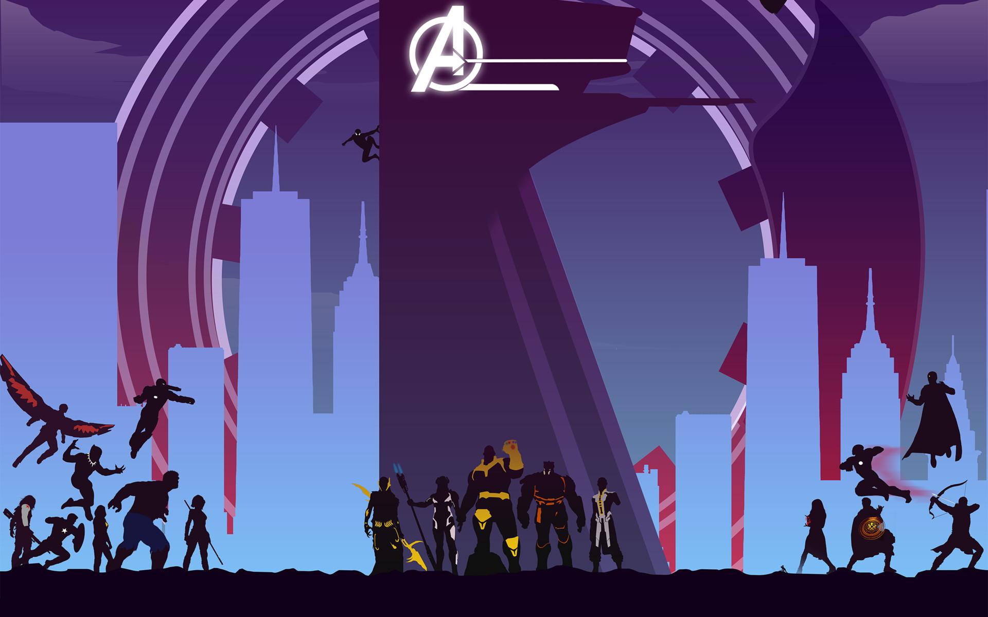 Cute Infinity Symbol Wallpaper Avengers Infinity War Artwork Minimal Wallpapers Hd