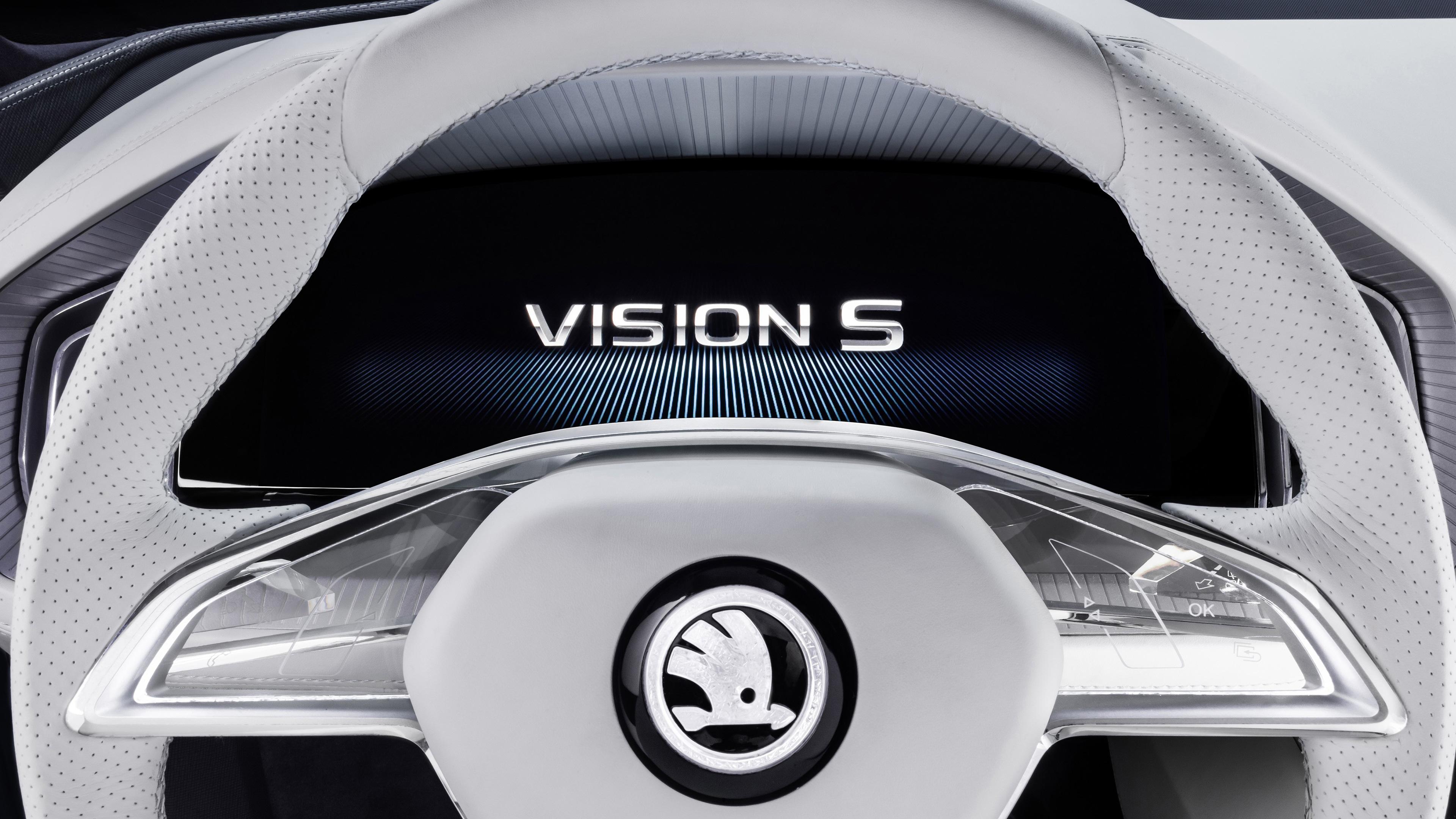 Qhd Car Wallpapers Skoda Vision S Logo Wallpapers Hd Wallpapers Id 17688