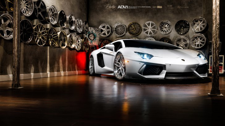 Super Cars 3d Wallpapers Lamborghini Aventador On Adv 1 Wheels Wallpaper Cars Hd