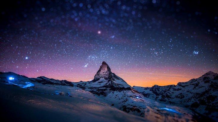 Apple Iphone 3d Wallpaper Starry Night Over The Matterhorn Wallpaper Nature Hd