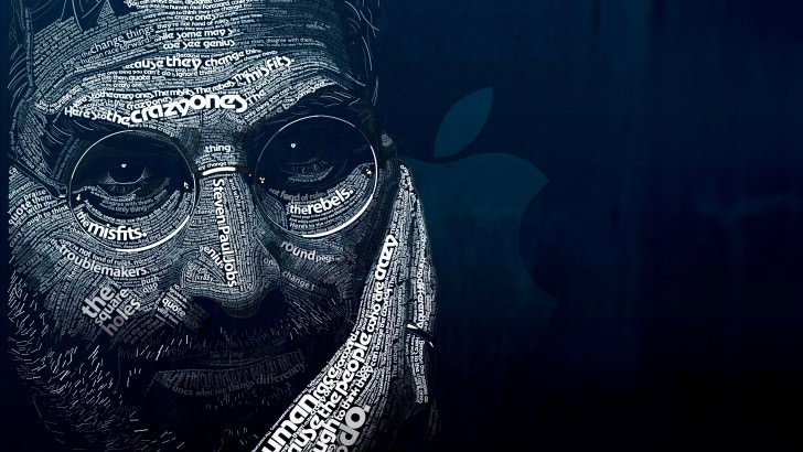 Galaxy S3 Quotes Wallpaper Steve Jobs Typographic Portrait Wallpaper Technology Hd