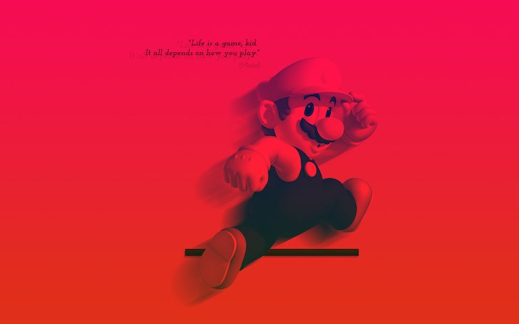 Galaxy Wallpaper Quote For Facebook Super Mario Bros Quote Wallpaper Games Hd Wallpapers