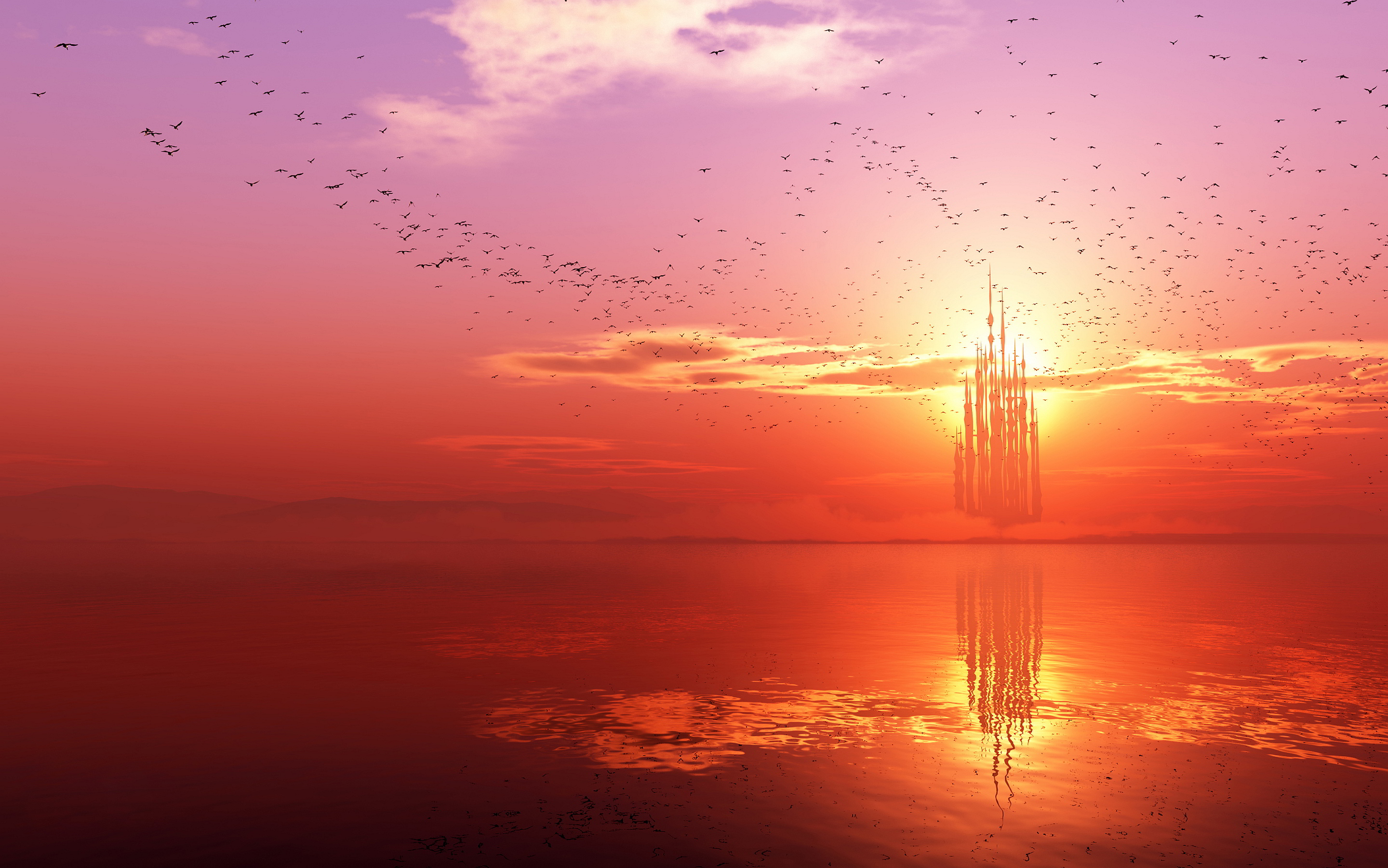 Cute Animated Wallpapers For Cell Phones Sunset On Horizon Hd Wallpapers Pulse