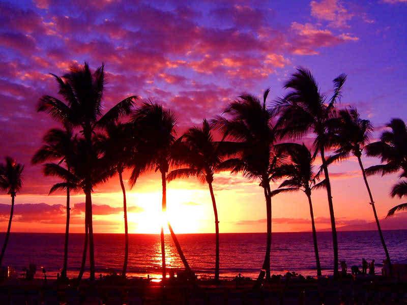Cloudy Weather Hd Wallpapers Hawaii Beach Sunset Wallpaper Hd Wallpapers Pulse