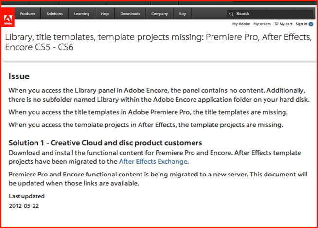 Hd warrior blog archiv shocking development from adobe with cs6 when you load up encore cs6 from the dock you do not have any buttons or templates rendering the program useless this is shocking from such a so called maxwellsz