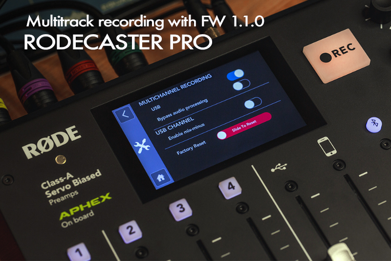 HD Warrior » Blog Archiv » RODECaster PRO with Multitrack
