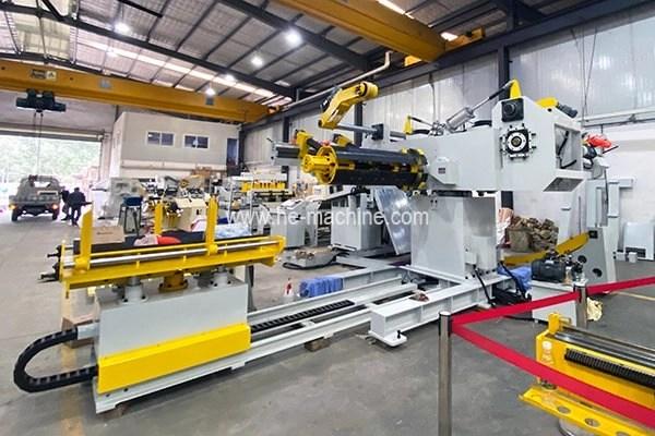 double decoiler machine in blanking line