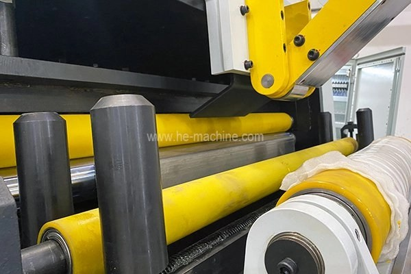 rubber coated coil inlet rollers