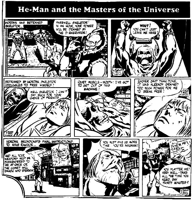 HeManorg  Publishing  Comics  MOTU Newspaper Comic