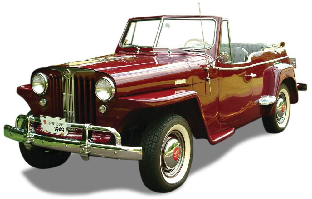 medium resolution of 1949 willys overland jeepster top down