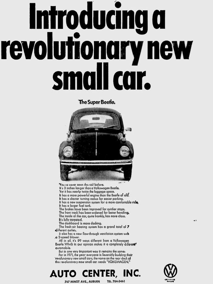 The VW Super Beetle Went Bigger When Everything Else Was