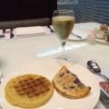 Krug for breakfast in the Al Mourjan lounge at Hamad International, Doha