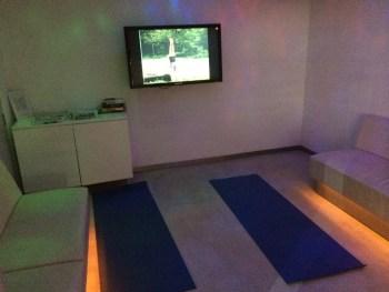 SkyTeam lounge Heathrow yogo room