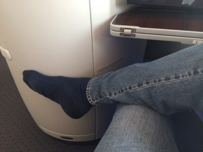 Qatar Airways 787 business class review - pitch