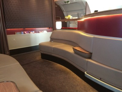 Qatar A380 business class review bar