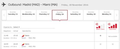 Booking iberia flights with Avios