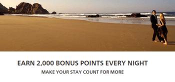 2000 bonus Hilton points Conrad Waldorf Astoria