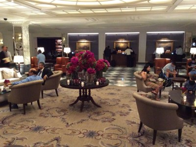 Review of InterContinental New York Barclay hotel lobby