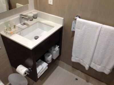 holiday inn brooklyn downtown bathroom sink towels