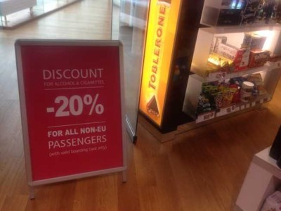 tallinn airport duty free 20 percent off for non EU Brexit