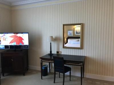The Westin Palace Madrid bedroom tv desk