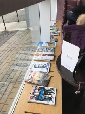 Aspire Lounge Inverness Airport newspapers