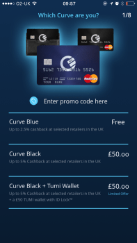Supercard curve Sign Up page