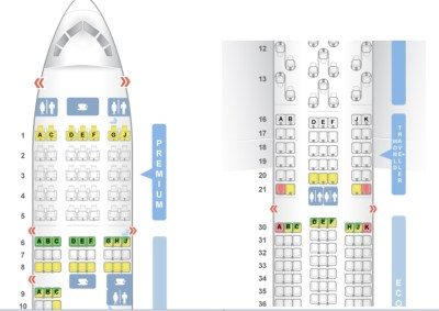 Seatguru BA premium economy vs Norwegian