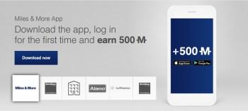 lufthansa miles and more 500 bonus miles app