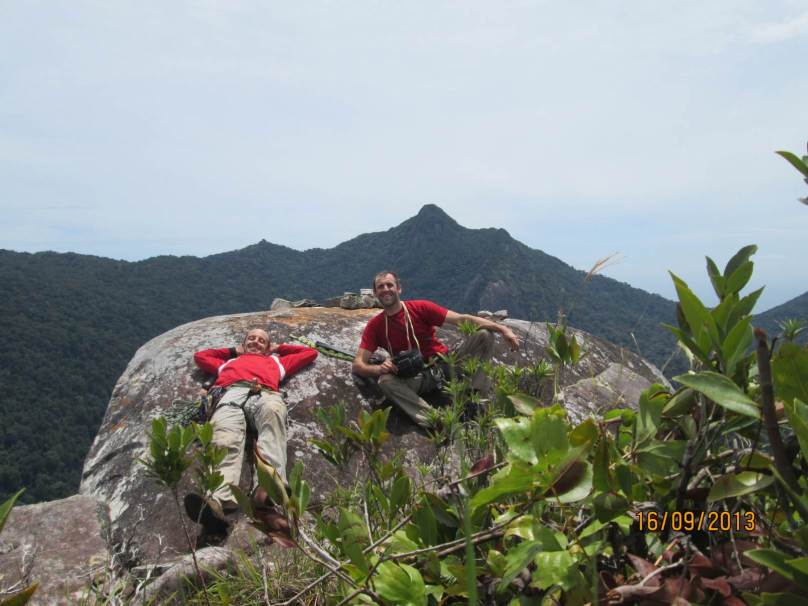 David Acott and Stephane Coupleux Summit of Waking Dream, Dragon's horns Tioman