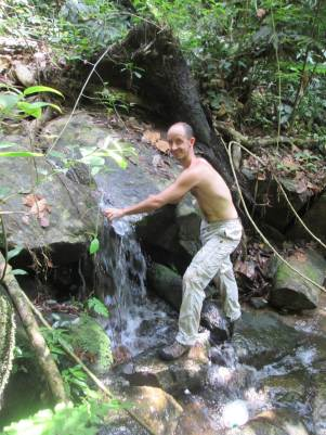 David at the water point in the tioman jungle 1
