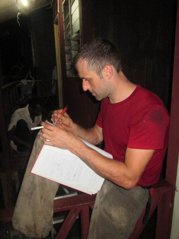 Signing Tam Book for the Waking Dream ascent Tioman