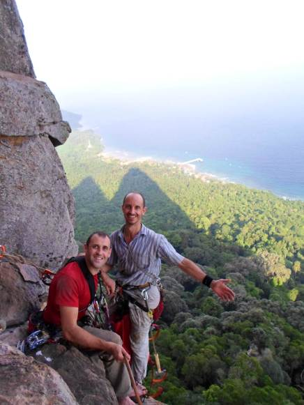Stephane and David on the Cat Walk (Pitch 3) Waking Dream, Dragon's Horn - Tioman