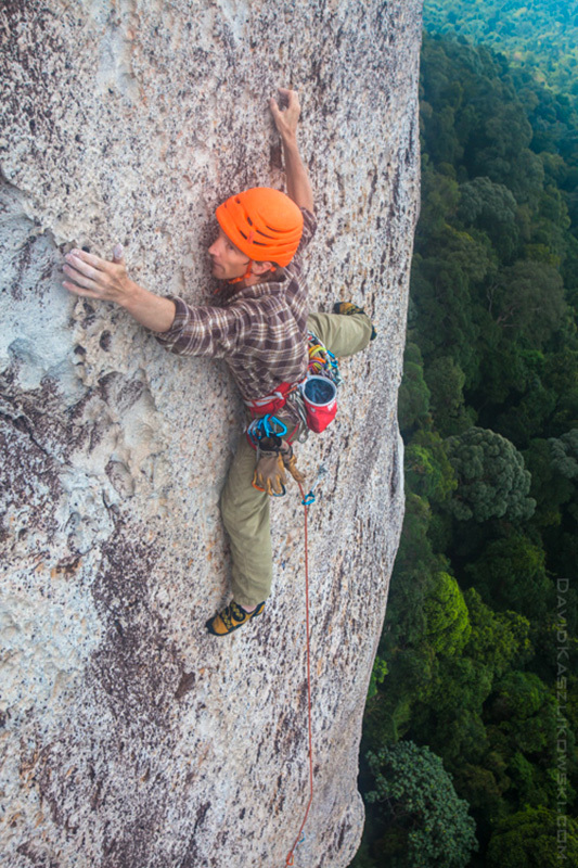 Arnaud Petit on Damai Sentosa Pitch 4 Tioman Rock Climbing