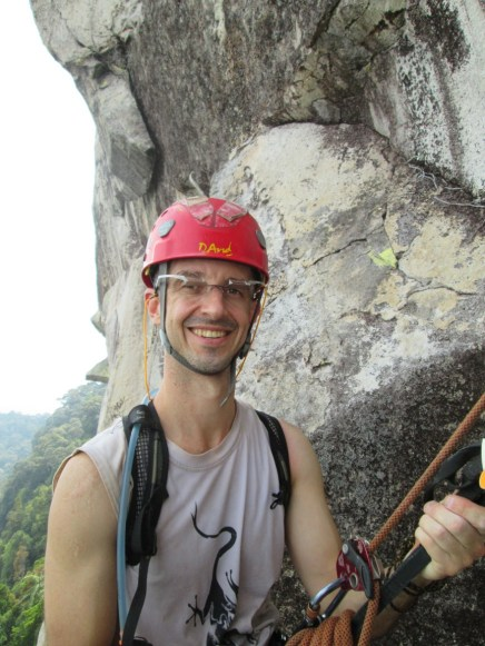 Dave at the anchors of pitch 2 Damai Sentosa