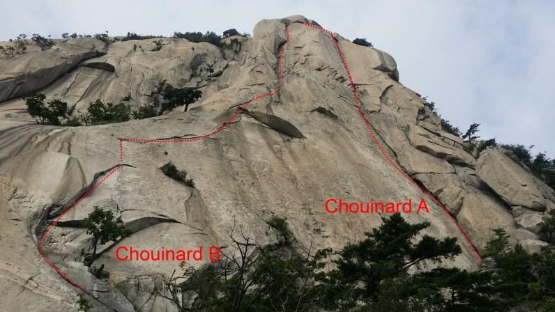 Insu-bong_Chouinard A and B_South Korea Climbing Topo