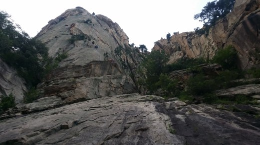 View of the base of Janggun Bong Rock Climbing South Korea Seoraksan