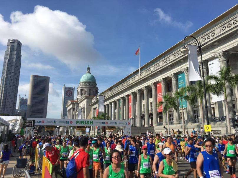 Singapore Marathon Finish Padang