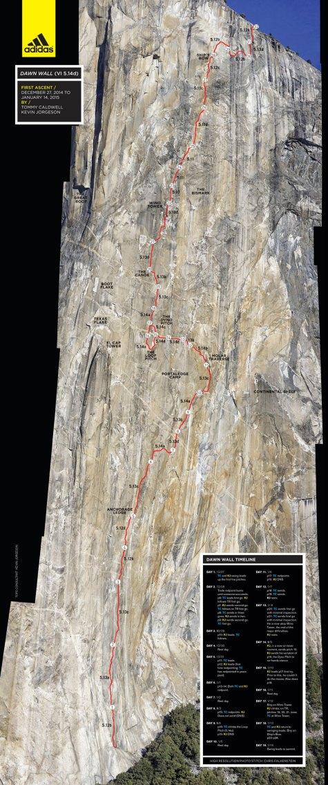 The Dawn Wall Topo - Free - Yosemite