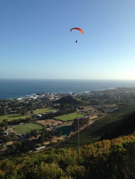 Coastal soaring Hermanus - paragliding