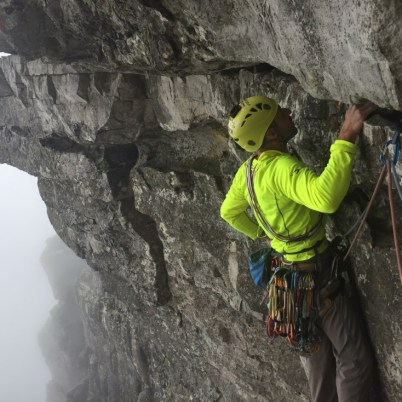Stephane looking for placement on the traverse Roulette