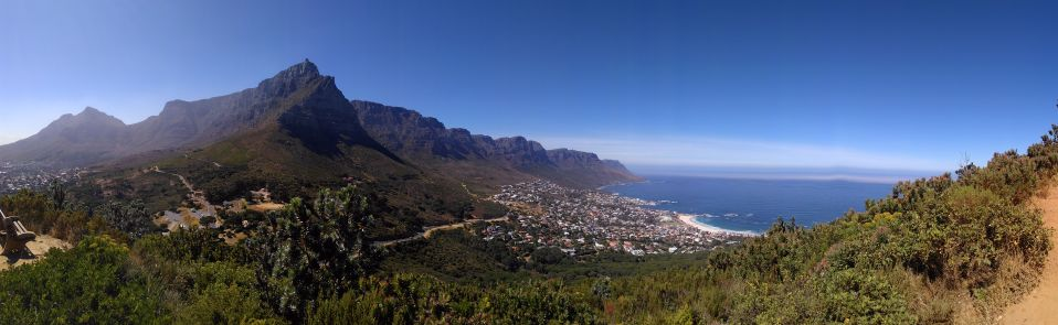 A panorama of Table Mountain from Lion's Head