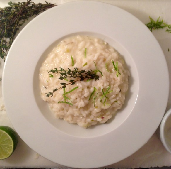 lime and goat milk yogurt risotto