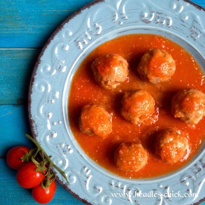 Polpette in salsa cremosa di Pomodoro