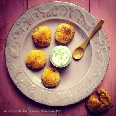 Crocchette di Zucca, Quinoa, Feta e Menta