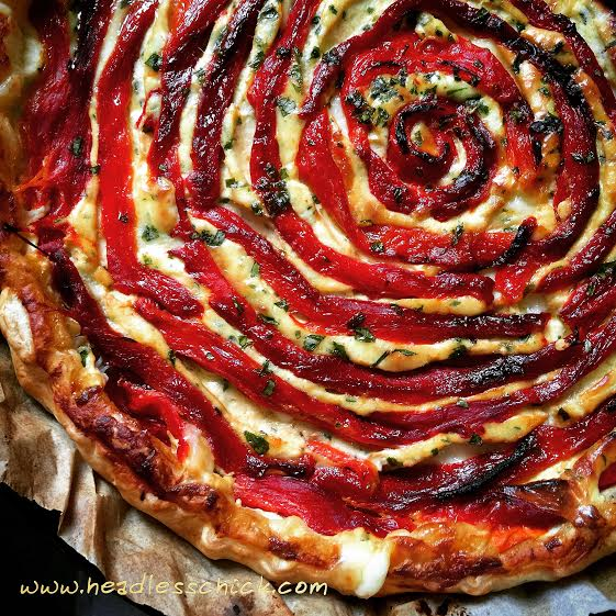 Roasted Red Peppers Quiche