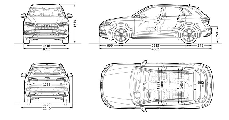 ราคาอย่างเป็นทางการ All NEW Audi Q5 : ดีเซล 2.0 Turbo 190
