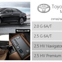 All New Camry Pantip Grand Avanza 1.3 E M/t 2018 ราคาอย างเป นทางการ เจาะสเป ค Toyota My2017 เบาะน งห ม มด วยหน งส น ำตาล Kogane