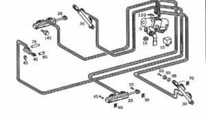 1998-2004 SLK 230 320 Hydraulic Cylinders #20, #25,#30,#35