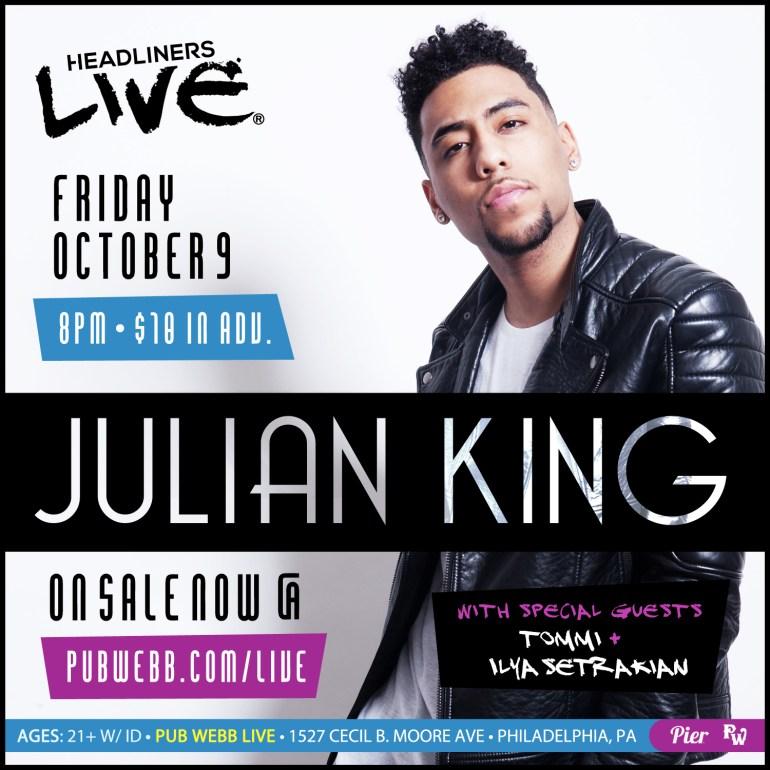 Pier Entertainment HEADLINERS LIVE Presents Julian King